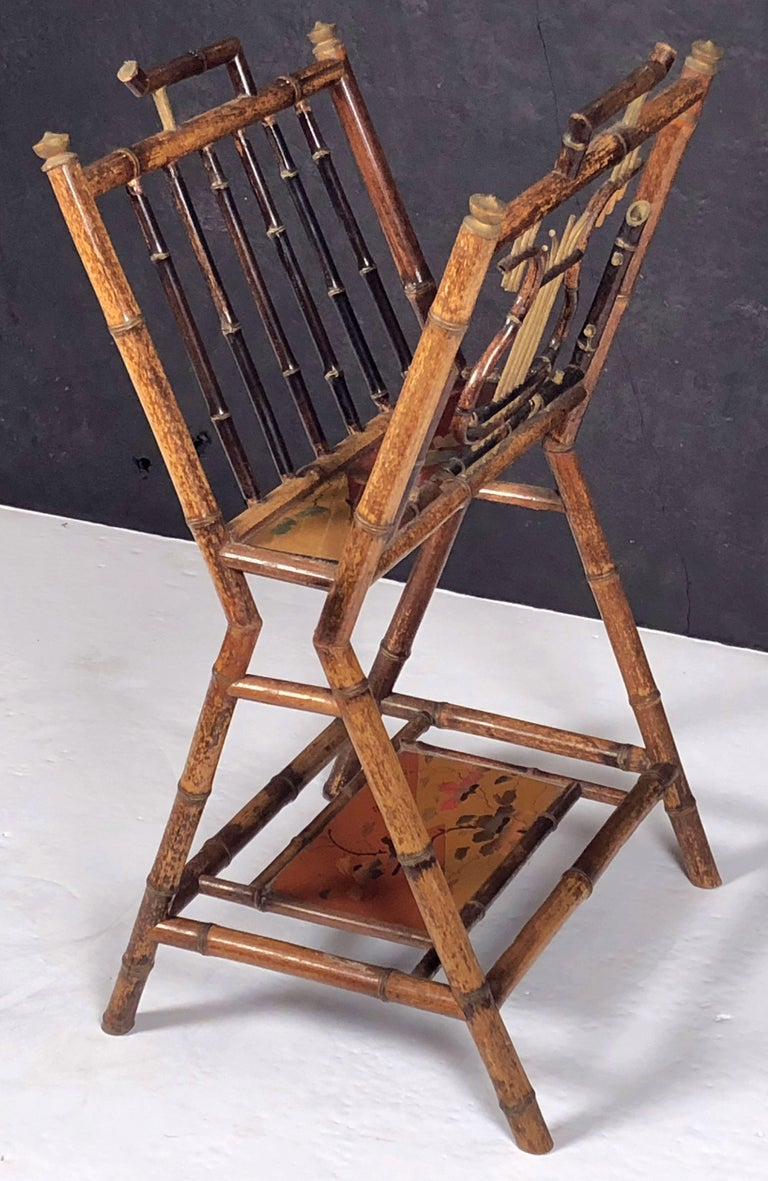English Bamboo Canterbury Music Rack or Magazine Stand For Sale 2