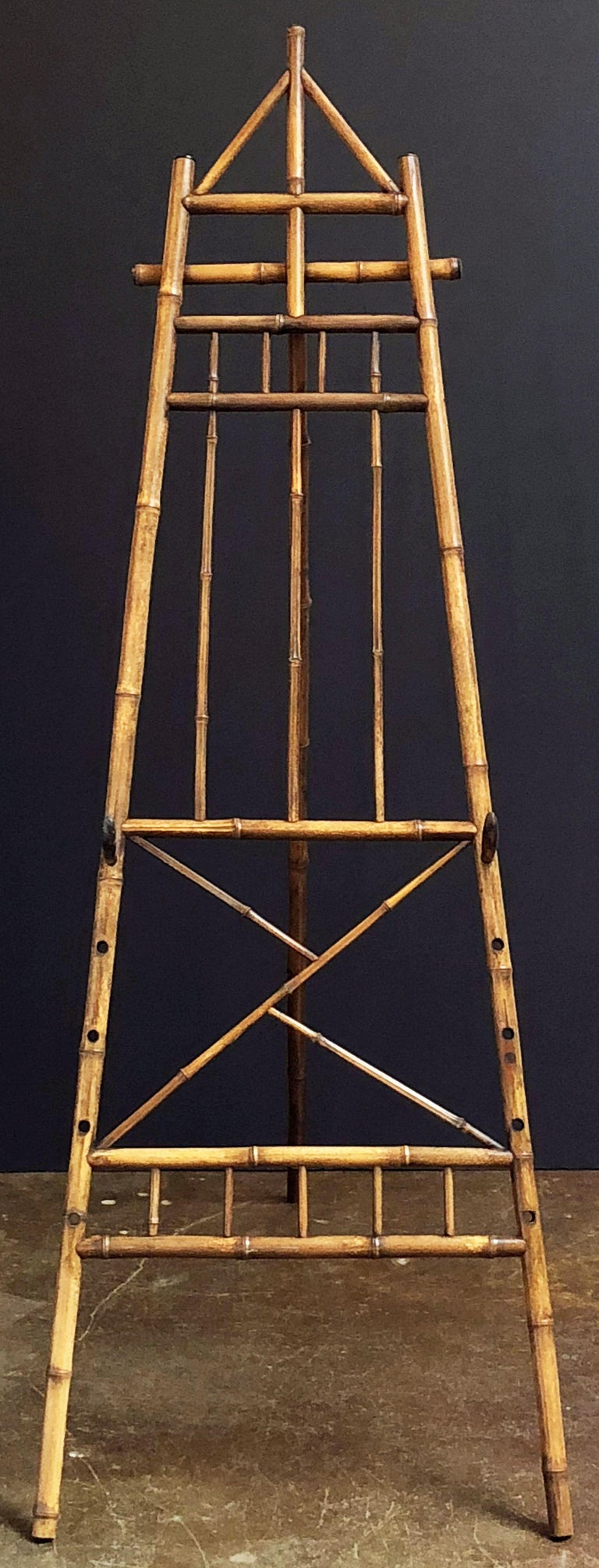 English Bamboo Display Easel From The Aesthetic Movement