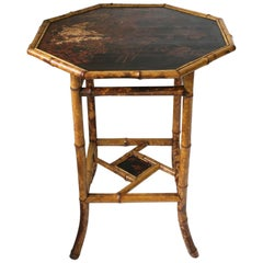 English Bamboo End Table