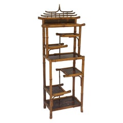 English Bamboo Étagère or Shelves from the Aesthetic Movement Era