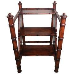 English Bamboo Motif Library Step Ladder