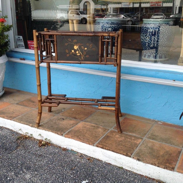 Chinoiserie English Bamboo Planter For Sale