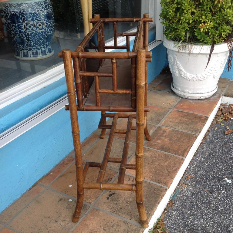English Bamboo Planter In Good Condition For Sale In West Palm Beach, FL
