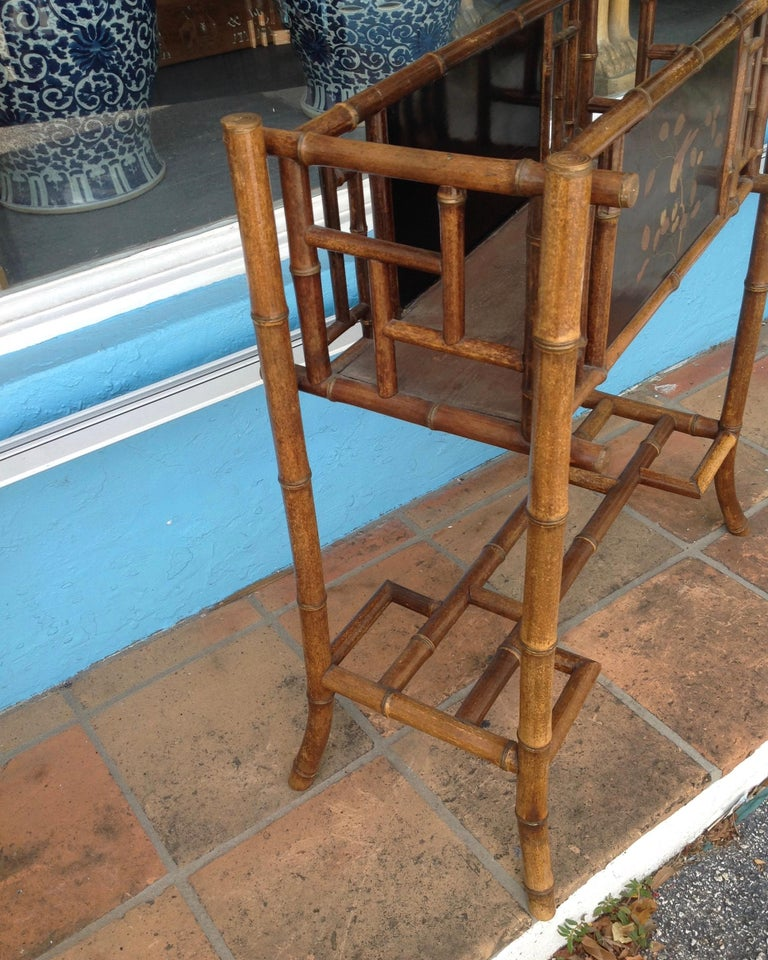 20th Century English Bamboo Planter For Sale