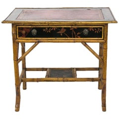 English Bamboo Writing Table