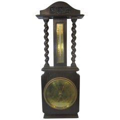 English Barometer or Thermometer, Brass Dial