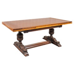 English Baroque Style Extension Dining Table
