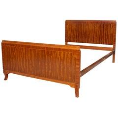 English Bed Frame Maple & Co Inlaid Mahogany