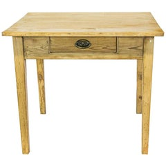 English Birch and Pine One Drawer Side Table