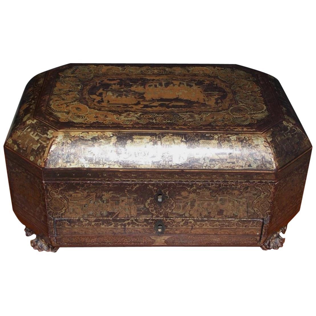 Brilliant Antique Sewing Boxes 69 For Sale On 1Stdibs Inzonedesignstudio Interior Chair Design Inzonedesignstudiocom