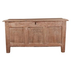 English Bleached Oak Blanket / Storage Chest
