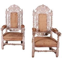 English Bleached Oak Chairs
