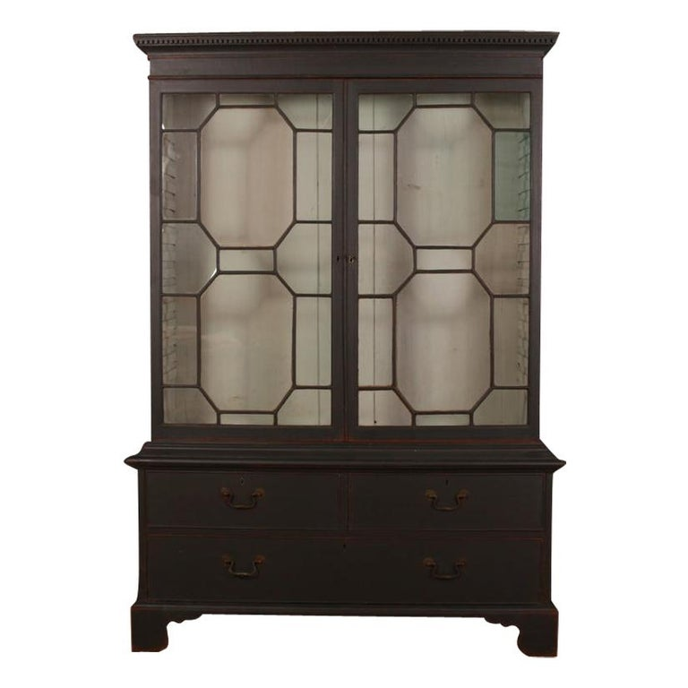 English Bookcase or Display Cupboard For Sale