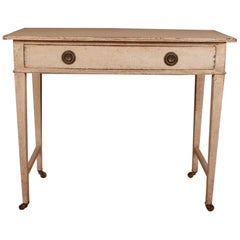 English Bowfront Painted Side Table