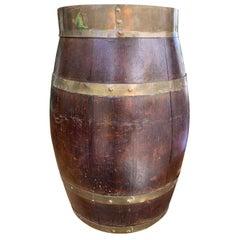 English Brass Bound Barrel, circa 1880