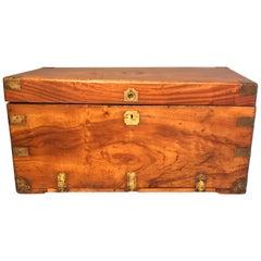 English Brass Bound Camphor Box, circa 1880