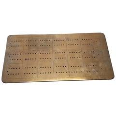 English Brass Cribbage Board