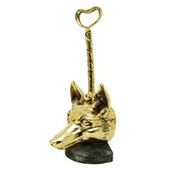 English Brass Doorstop