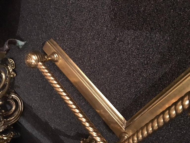 English Brass Fireplace Fender, 19th Century For Sale 3