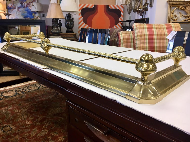 English Brass Fireplace Fender For Sale 12