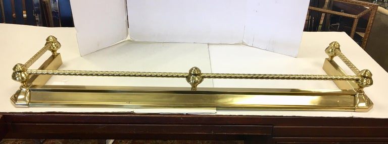 English Brass Fireplace Fender For Sale 13