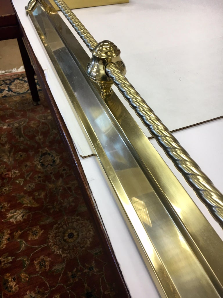 English Brass Fireplace Fender For Sale 5