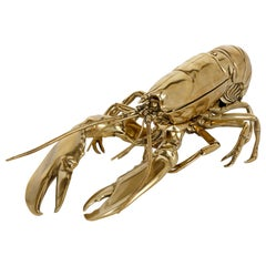 English Brass Inkstand in the Form of a Lobster