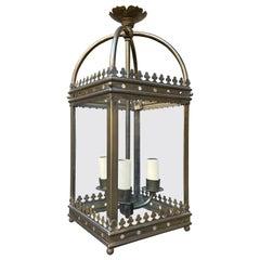 English Brass Lantern in the Gothic Manner