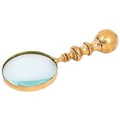 English Brass Magnifying Glass