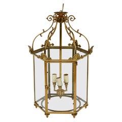 English Brass Vintage Hall Lantern