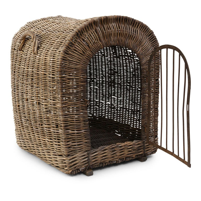 English Brown Wicker Dog Kennel Basket For Sale 8