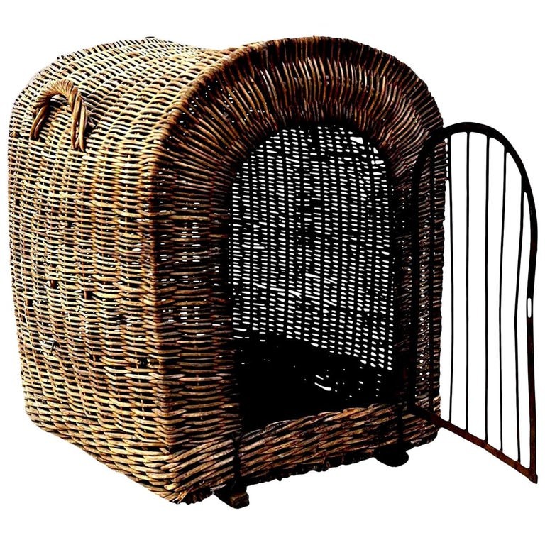 English Brown Wicker Dog Kennel Basket For Sale 9
