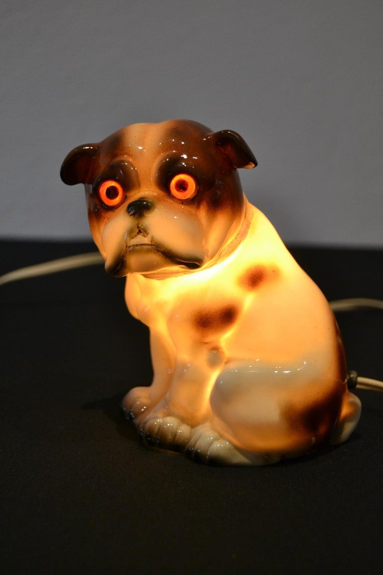 English Bulldog Perfume Lamp For Sale 12
