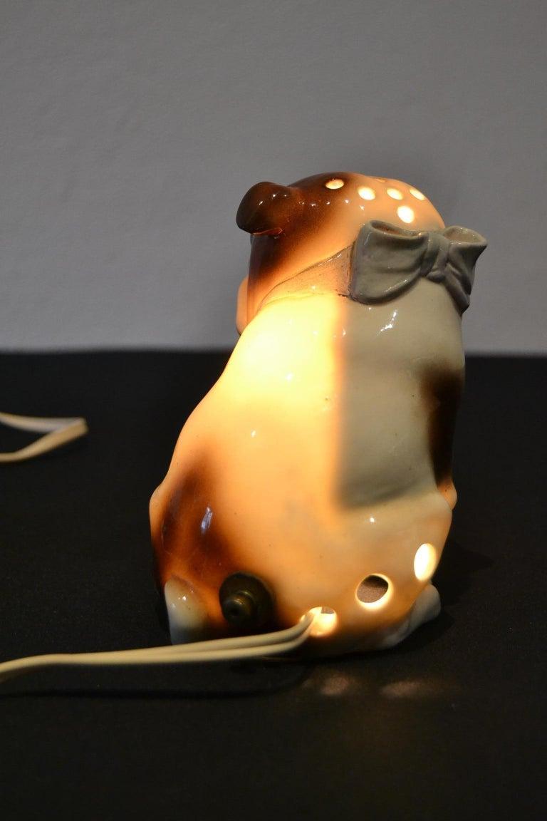 Mid-Century Modern English Bulldog Perfume Lamp For Sale
