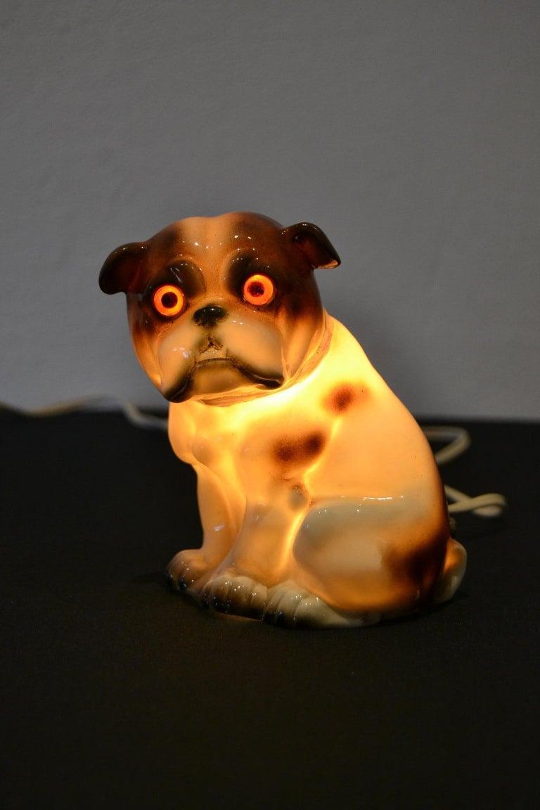 German English Bulldog Perfume Lamp For Sale