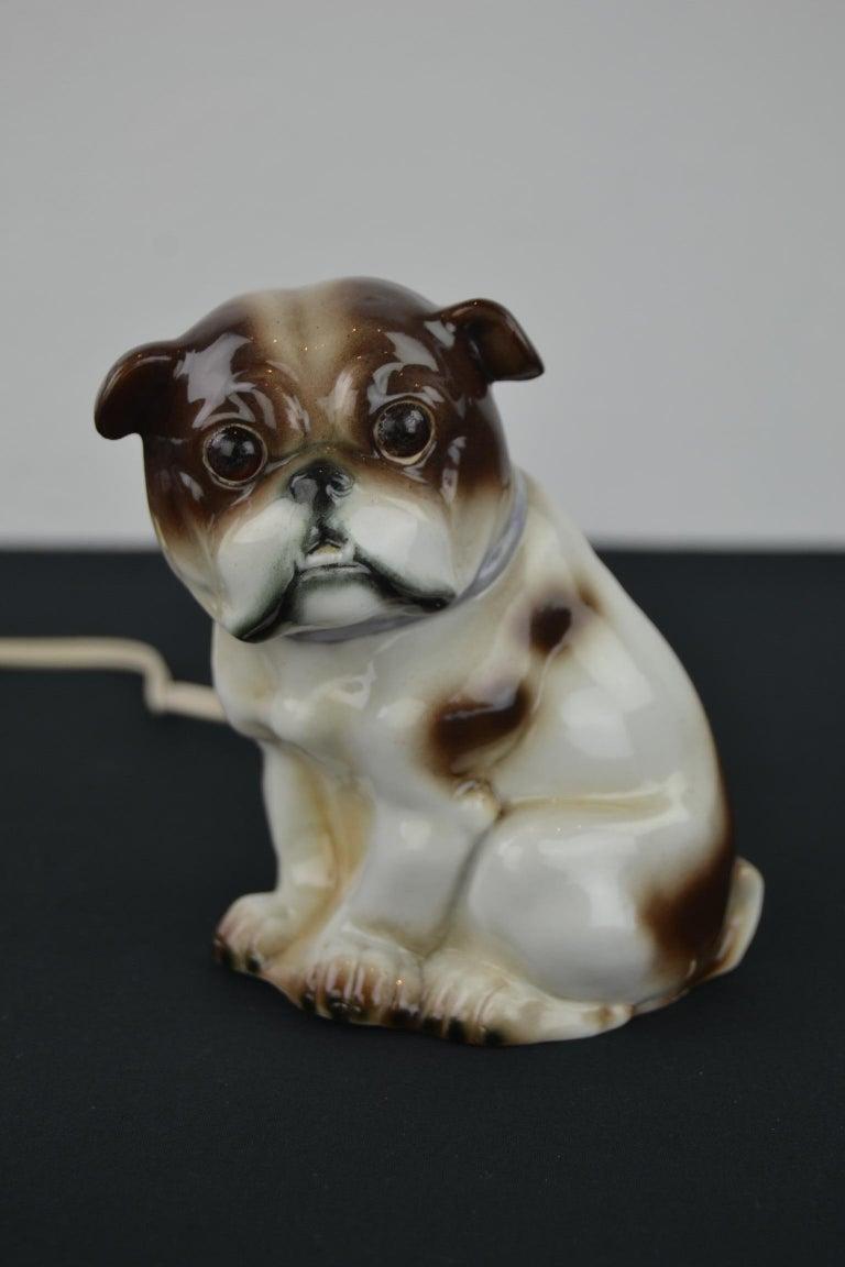 20th Century English Bulldog Perfume Lamp For Sale