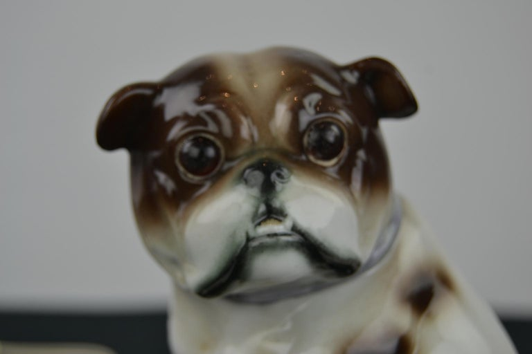 Porcelain English Bulldog Perfume Lamp For Sale