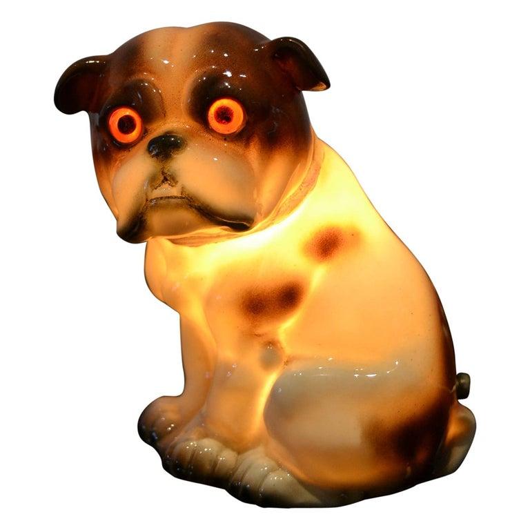 English Bulldog Perfume Lamp For Sale
