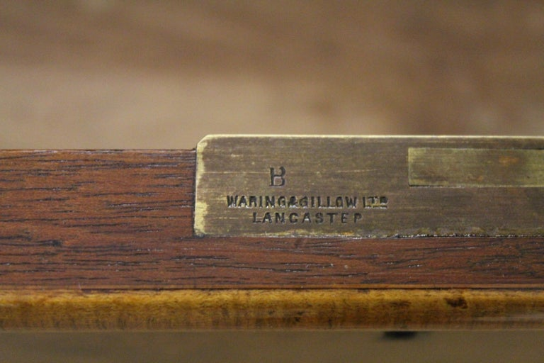 English Burr Walnut Dressing Table by Waring and Gillow For Sale 9