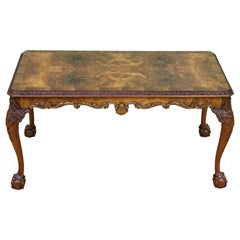English Burr Walnut Rectangular Coffee Table