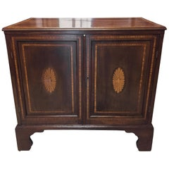 English Cabinet or Cupboard with Inlay