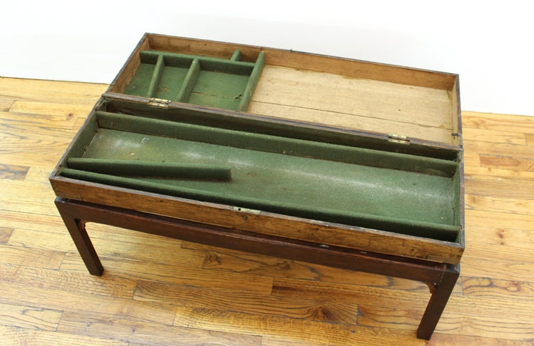 English Campaign Chest Style Storage Box Diminutive Coffee Table For Sale 3