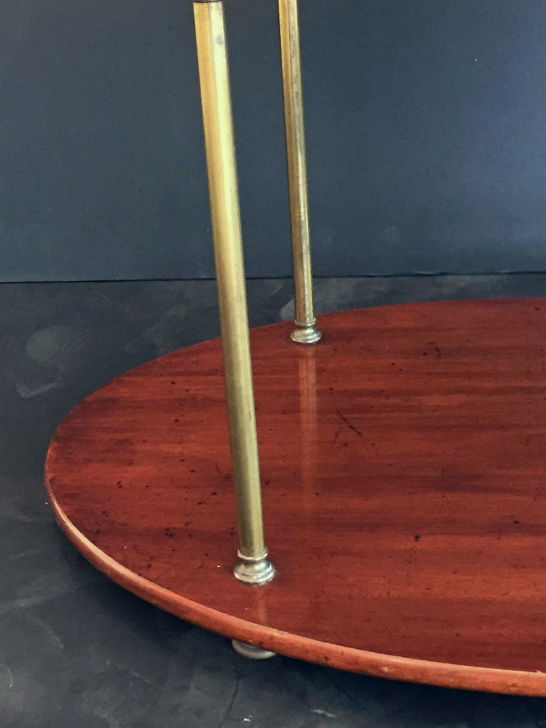 English Campaign Oval Table of Wood and Brass, circa 1880 For Sale 6