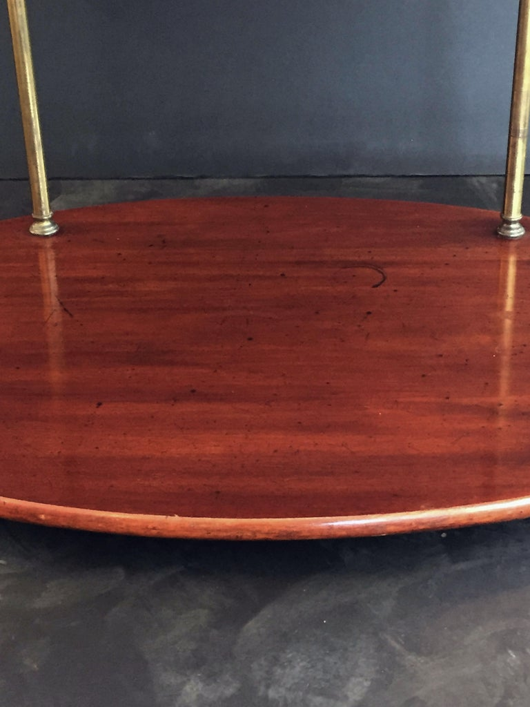 English Campaign Oval Table of Wood and Brass, circa 1880 For Sale 7
