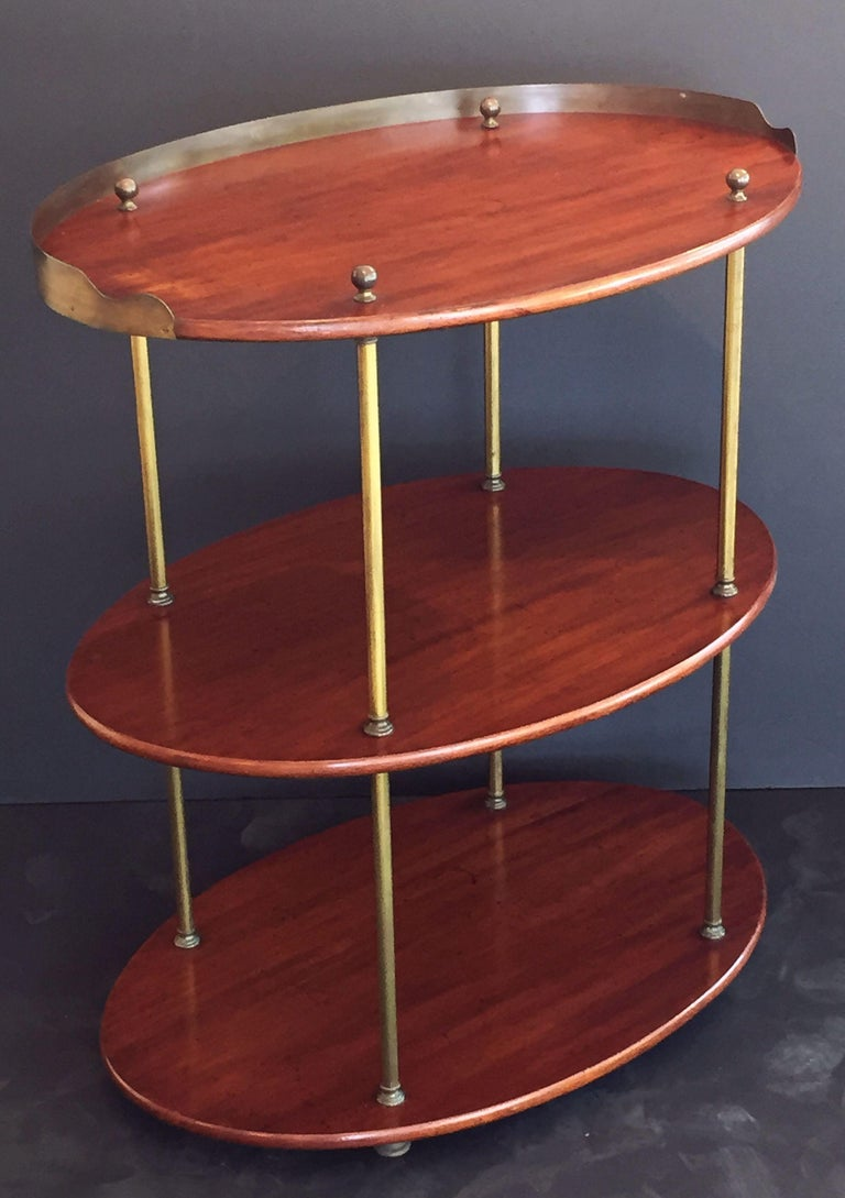 English Campaign Oval Table of Wood and Brass, circa 1880 In Good Condition For Sale In Austin, TX