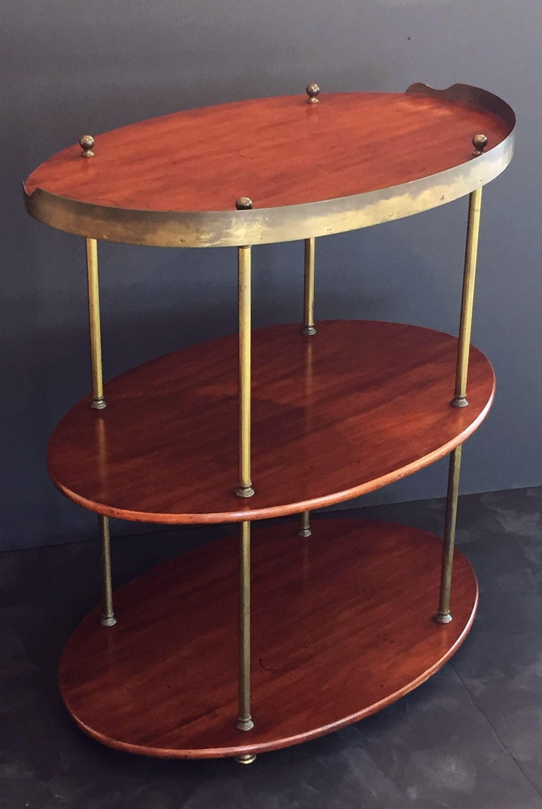 English Campaign Oval Table of Wood and Brass, circa 1880 For Sale 2