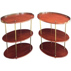 English Campaign Oval Tables of Wood and Brass, circa 1880 'Priced Individually'