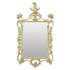 English Carved & Painted Chippendale Style Mirror