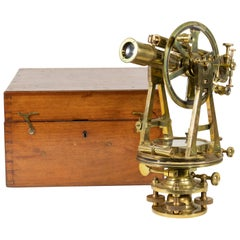 English Cased Brass 19th Century Theodolite