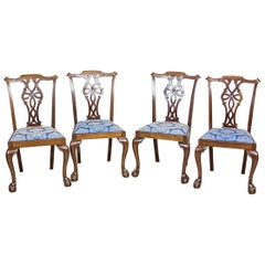 English Chairs in the Chippendale Type, circa the 1st Half of the 20th Century